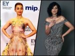 Radhika Apte And Kubbra Sait Wore Sculptural Gowns At The International Emmy Awards