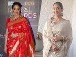 Manisha Koirala And Esha Deol In Saris