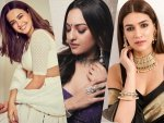 Kriti Sanon Sonakshi Sinha And Surveen Chawla Gives Ethnic Wear Goals