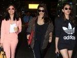 Jacqueline Fernandez Parineeti Chopra And Aditi Rao Hydari In Casual Outfits At Airport