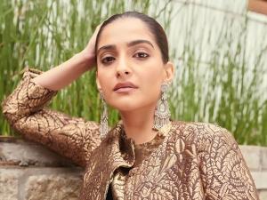 Sonam Kapoor Ahuja Looks Royal In A Golden Brocade Kurta Set