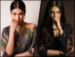 Shruti Haasan In A Black Floral Pantsuit And A Grey Floral Wrap Dress