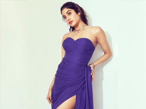 Janhvi Kapoor In A Purple Gown For A Photoshoot