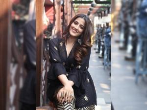 Kriti Sanon S Sister Nupur Sanon In A Festive Attire For Filhall Promotions