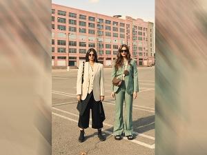 Sonam Kapoor Ahuja And Rhea Kapoor Flaunt Pants At Los Angeles