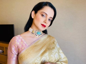 Kangana Ranaut In A Silk Sari For Her Brother S Engagement