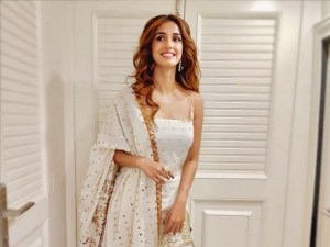 Disha Patani In An Ethnic Ivory Sharara Set For Muhurat Puja On The Sets Of Radhe