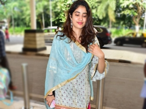 Dostana 2 Actress Janhvi Kapoor In An Ivory Sharara Set At The Airport