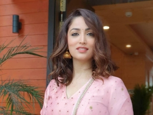 Bala Actress Yami Gautam In A Pink Gharara Set At Rising Himachal Global Investors Meet 2019 Event