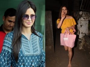 Katrina Kaif And Sara Ali Khan Spotted In Dresses