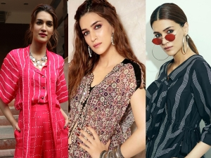 Kriti Sanon In Three Different Co Ord Set For Panipat Promotions