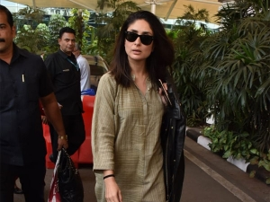 Kareena Kapoor Khan Spotted At The Airport In A Kurta Pyjama Set