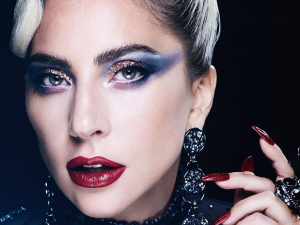 Lady Gaga In A Vibrant Make Up Look On Instagram