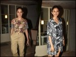 Nushrat Bharucha And Rakul Preet Singh Spotted In Patterned Outfits