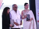 Deepika Padukone In An Ivory Sari For The Launch Event Of Sridevi S Book