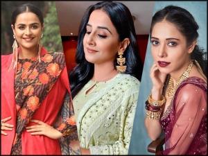 Nushrat Bharucha Vidya Balan And Prachi Tehlan Gives Wedding Fashion Goals