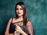 Sonakshi Sinha In A Beautiful Floral Sari For Dabangg 3 Promotions