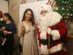 Sonakshi Sinha In A White Dotted Dress For Christmas Event