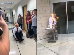 Video Of 70 Year Old Physics Professor Doing Crazy Experiments Goes Viral