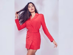 Janhvi Kapoor S Recent Photoshoot In A Pretty Red Blazer Dress
