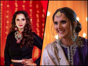 Sania Mirza S Traditional Look At Her Sister Anam Mirza S Wedding Festivities