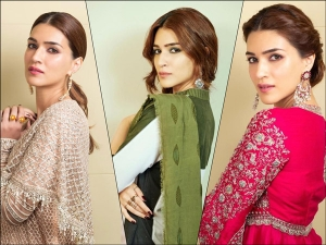Recent Royal Outfits Of Kriti Sanon At Panipat Promotions