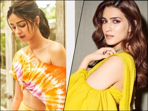 Kriti Sanon In A Bright Yellow Sari And Ananya Panday In Golden Yellow Separates