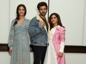 Ananya Panday And Bhumi Pednekar In Chic Outfits For Pati Patni Aur Woh Promotions