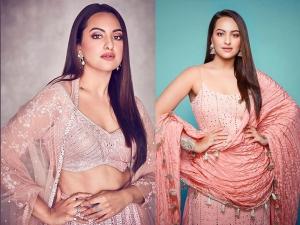 Sonakshi Sinha In A Pink Lehenga And Chikankari Kurta Set For Dabangg 3 Promotions