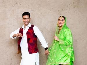 Angad Bedi And Neha Dhupia Recreate The Magic Of Dilwale Dulhania Le Jayenge As Raj Simran
