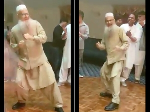 Video Of Old Man Dancing On Ghar Aaya Mera Pardesi Goes Viral