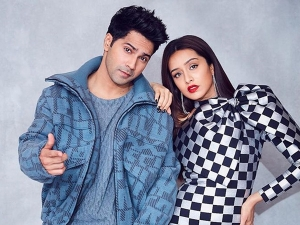 Shraddha Kapoor In Checkered Dress And Varun Dhawan In Blue Attire For Street Dancer Trailer Launch