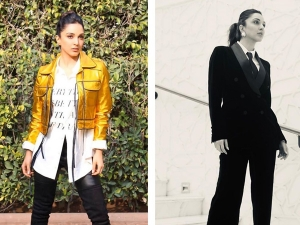 Kiara Advani In A Formal Black Suit And In A Casual Outfit With Golden Jacket