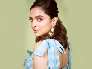 Deepika Padukone In Blue And White Checkered Co Ords For Chhapaak Promotions