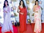 Katrina Kaif Janhvi Kapoor And Other Divas In Saris At Umang