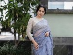 Kangana Ranaut In A Lavender Sari For Her Film Panga S Song Launch In Pune