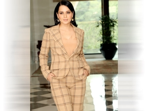 Kangana Ranaut In A Ralph Lauren Suit For Panga Promotions