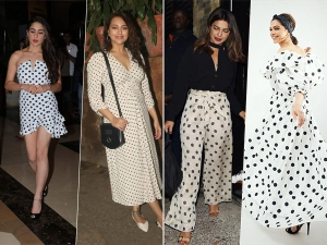 Deepika Padukone And Other Divas In Black And White Polka Dotted Outfit
