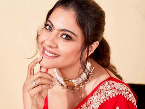 Kajol In Anita Dongre S Red Sari For Tanhaji Promotions