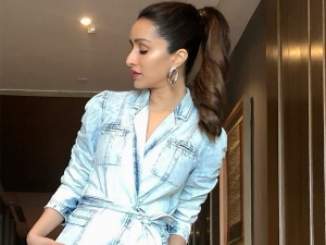 Shraddha Kapoor In Denim Ruffle Dress With Dazzling Hairdo For Street Dancer 3d Promotions
