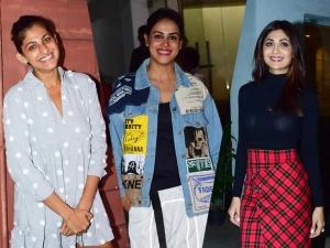 Shilpa Shetty Genelia Deshmukh And Kubbra Sait S Outfits At The Screening Of Jawaani Jaaneman