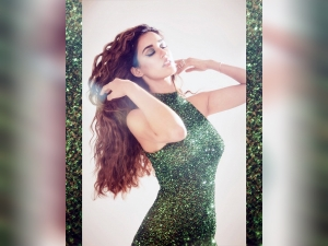 Disha Patani In A Green Dress For Malang Promotions