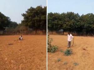 Viral Video Of Drunk Man Playing With Snake Will Scare You