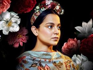Kangana Ranaut S Floral Frida Kahlo Avatar At Panga Screening Event