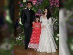 Aishwarya Rai Bachchan Abhishek Bachchan And Aaradhya Bachchan Armaan Jain Wedding