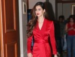Malang Actress Disha Patani In A Red Gown