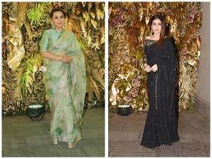 Rani Mukerji And Other Divas In Saris At Armaan Jain S Wedding Reception