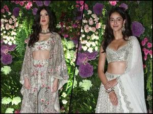 Ananya Kapoor And Shanaya Kapoor In Ethnic Outfits At Armaan Jain S Wedding