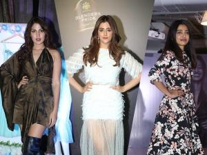 Radhika Apte Nupur Sanon And Rhea Chakraborty At Blenders Pride Fashion Tour