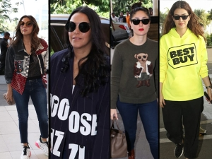 Airport Diaries Kareena Kapoor Khan And Other Bollywood Divas Give Winter Fashion Goals